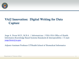Clinical documentation [and data capture]