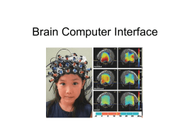 Brain Computer Interface - Welcome to Computer Science