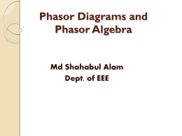 Phasor Diagrams and Phasor Algebra