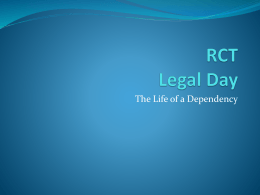 Legal day - Life of a Dependency - final 7.21.15 update w AAG notes