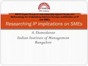 Researching IP Implications on SMEs
