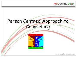 Person Centred Approach to Counselling