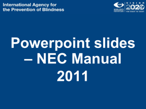 NEC Manual - International Agency for the Prevention of Blindness