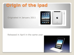 Origin of the ipad