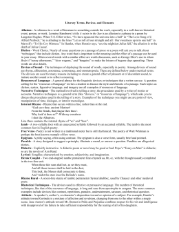 english literature terms glossary of literary terminology
