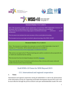 Report on the WSIS Stocktaking 2016 May 2016