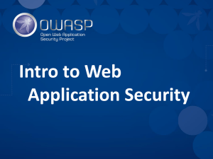 Intro to Web App Security