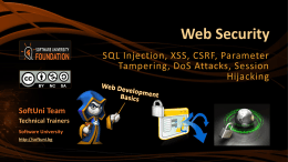 Web Security Main Concepts