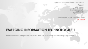 Big Data Analytics - Seidenberg School of Computer Science and