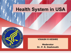 Health Care Delivery System in USA