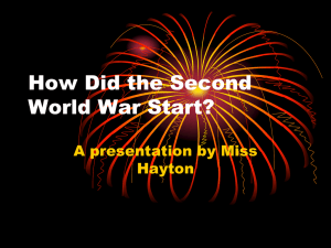 How Did the Second World War Start?