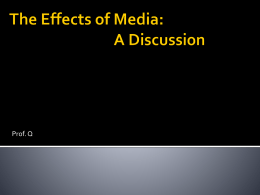 Media and Violence: A Discussion