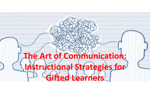 The Art of Communication: Instructional Strategies for Gifted Learners