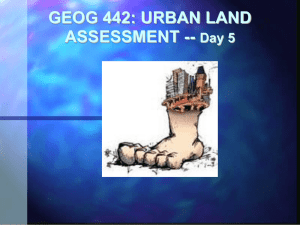 GEOG 442: URBAN LAND ASSESSMENT -- Day 5