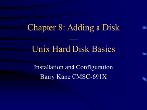 Unix Hard Disk Basics