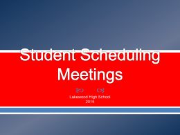 Student Scheduling Meetings