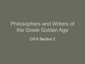 Philosophers and Writers of the Greek Golden Age