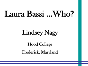 Laura Bassi ...Who