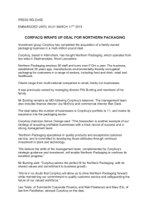 corpacq wraps up deal for northern packaging