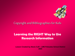 Copyright for Kids - Palisades School District