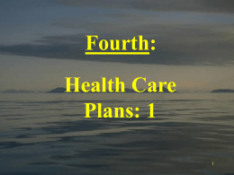4) Health care plans 1