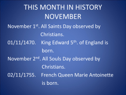 This month in history November 2016