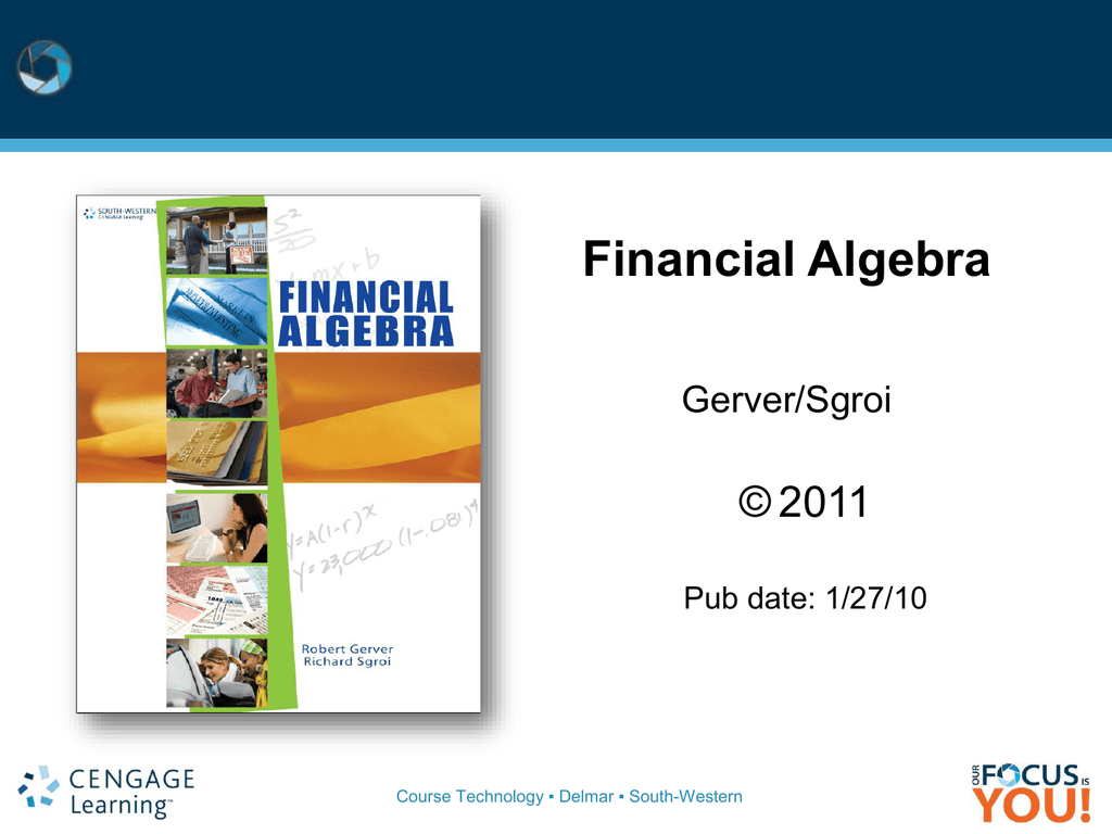 Financial algebra cengage learning fandeluxe