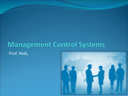 effectiveness and efficiency of management control