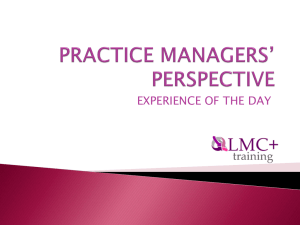practice managers* perspective