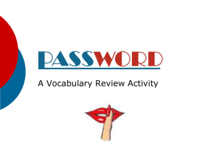 Password Review Game