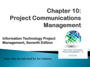 Project Communication Management - University of Houston