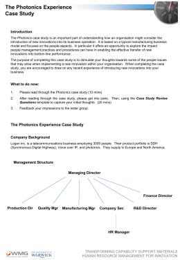 Case Study Exercise