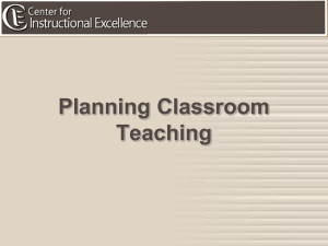 Planning Classroom Teaching Final