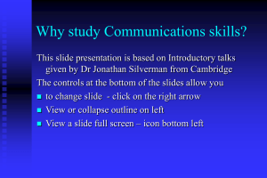 Why study communication skills