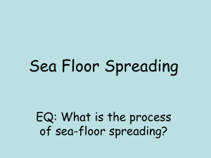 Evidence for Sea-Floor Spreading