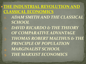 industrial revolution and classical economics week 3