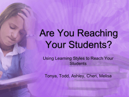File - Are You Reaching Your Students?