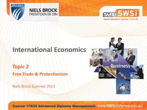 NIELS BROCK - International Economics