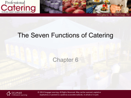 What is Catering - Cengage Learning