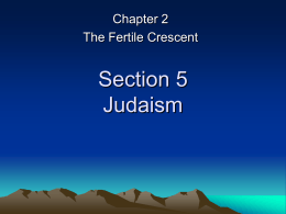 Section 5 Judaism
