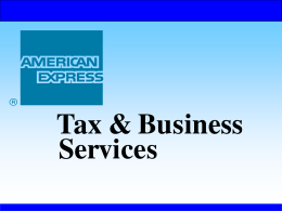 American Express Tax and Business Services of New York Inc.