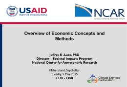 Overview of Economic Concepts and Methods