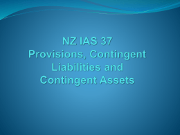 provisions contingent liabilities and contingent assets