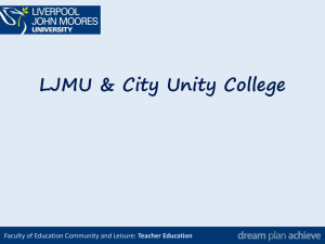 Teacher Education - City Unity College