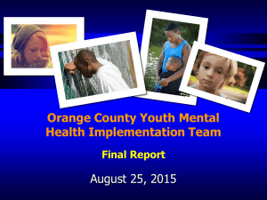 2015-08-25 Discussion Youth Mental Health Commission