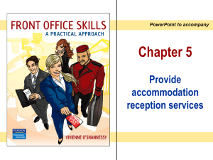 Chapter 5 - Accommodation Services