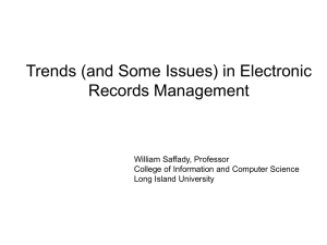 Trends in Electronic Records Management