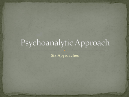 Psychoanalytic Approach