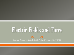 Electric Fields and Force