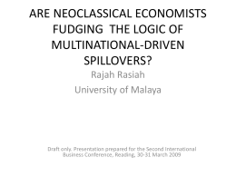 Neoclassical explanations on multinational-driven